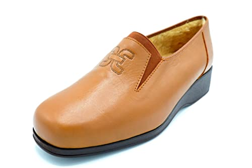 Drucker 934 Marron - Zapato Piel con Abrigo (34 EU)