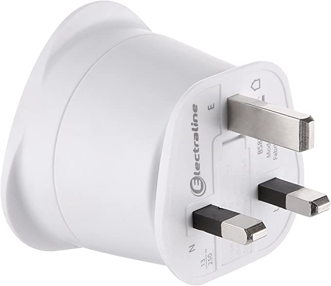 Electraline 70053 Travel Adaptor France Europe To Uk 2 Pin Europe To 3 Pin Uk White Baumarkt