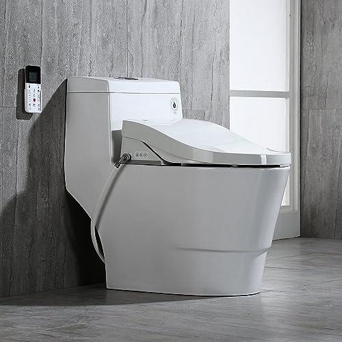 WoodBridge T-0008 Luxury Bidet Toilet, Elongated One Piece Toilet with Advanced Bidet Seat, Smart Toilet Seat