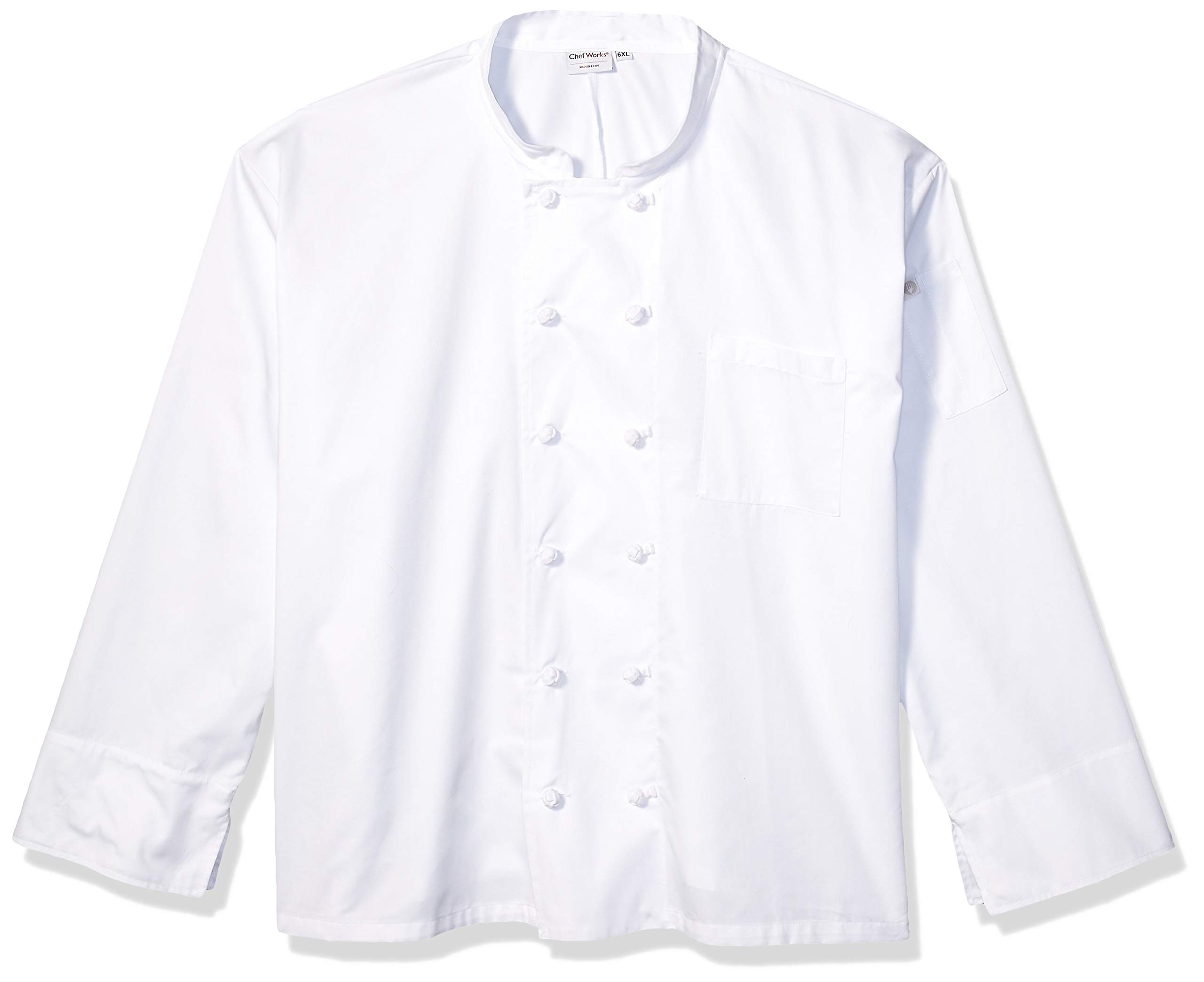 Chef Works Men's Bordeaux Chef Coat, White, 4X-Large by Chef Works