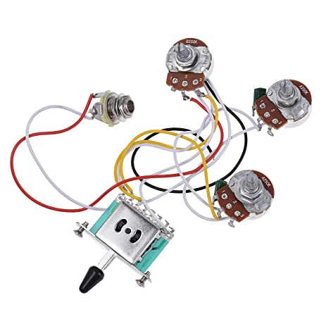 amazon com electric guitar wiring harness prewired kit 5 way toggle rh amazon com bass guitar wiring harness wiring harness for guitar