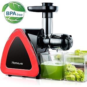 Fein und grob ⭐Slow Juicer Obst- und Gem/üseentsafter Leichte Reinigung dank Mitgelieferter B/ürste CE-Kennzeichnung - Gro/ßer Einf/üllschacht 75 mm 2 Siebe BPA-frei Twinzee