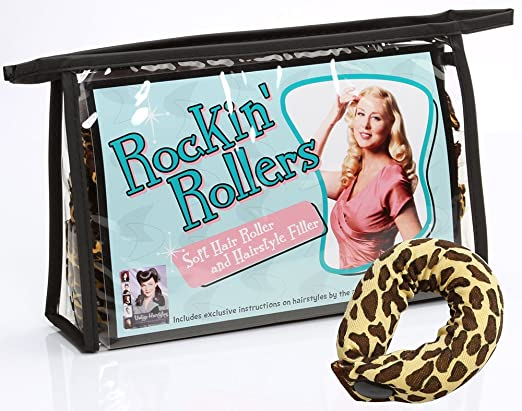 1940s Hairstyles- History of Women's Hairstyles Rockin Rollers Soft Leopard Print Hair Rollers and Hair Filler $22.95 AT vintagedancer.com