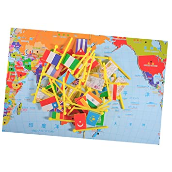 Magideal world map puzzle game for kids toddler world map and magideal world map puzzle game for kids toddler world map and national flags match gumiabroncs Images