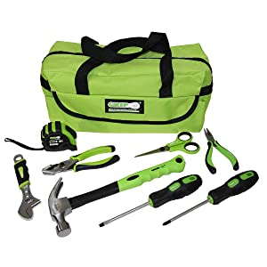 9 pc Children's Tool Set Lime