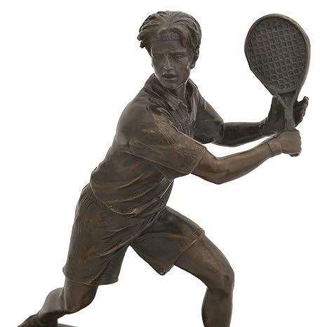 Tenis jugador Sport Figura Escultura de bronce mármol Repro Socket ...