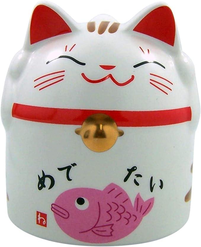 Japanese Maneki Neko Lucky Cat Coffee Mug 4 Inch Kitchen Dining Amazon Com
