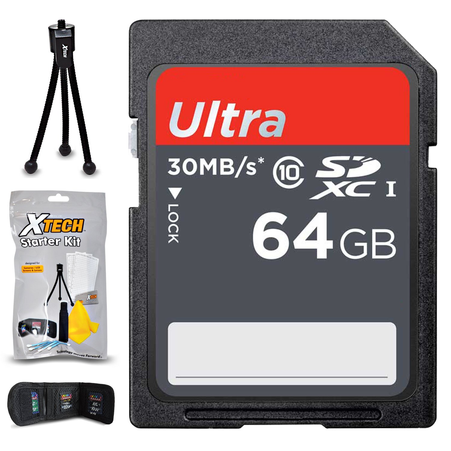 32GB SD Memory Card (High-Speed) + Xtech Starter Kit for Olympus Cameras including Olympus PEN E-PL8, PEN E-PL7, Stylus SH-3, PEN-F, PEN E-P5, PEN E-PL6 (64GB Memory Card)