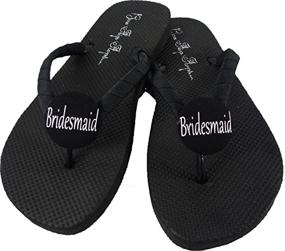 306e44fc7e8fe Amazon.com  Customizable Bridesmaid Flip Flops