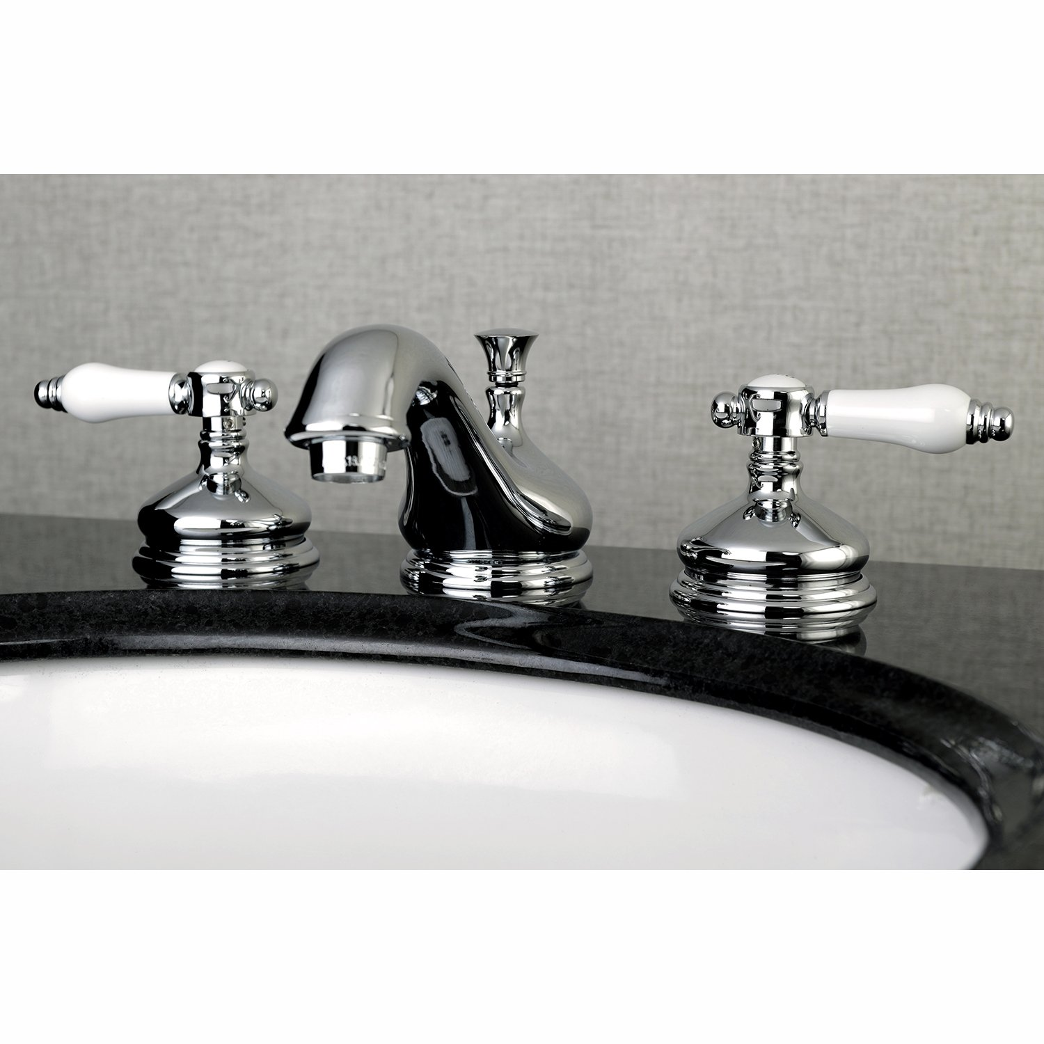 Kingston Brass KS1161BPL Bel Air Widespread Lavatory Faucet with Brass Pop-Up, 5-1/2 inch In Spout Reach, Chrome by Kingston Brass (Image #1)