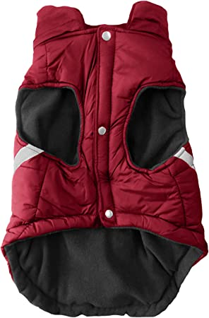 XS Team Color Littlearth Unisex Soft Fleece Lined Pet Puffer Vest