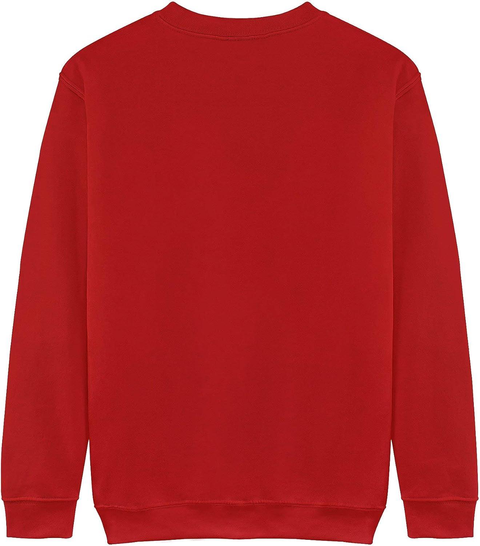 Mens Round Neck Sweater Fashion Sweatshirts,Bull Head Graphic