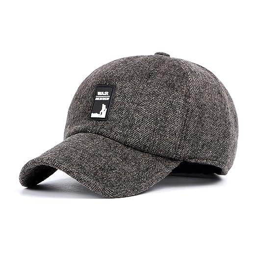 0c99492b5d7 SCOWAY Wool Baseball Caps Adjustable Polo Plain Sun Winter Warm Hats for Men  and Women (