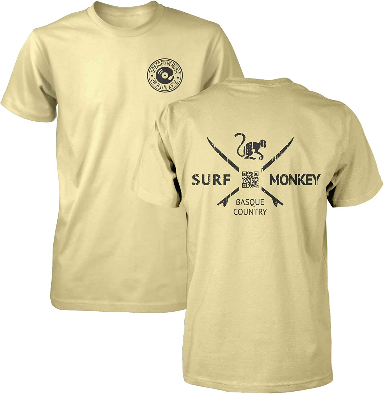 Camiseta Amarilla algodón para Hombre - Camiseta Manga Corta Surf ...