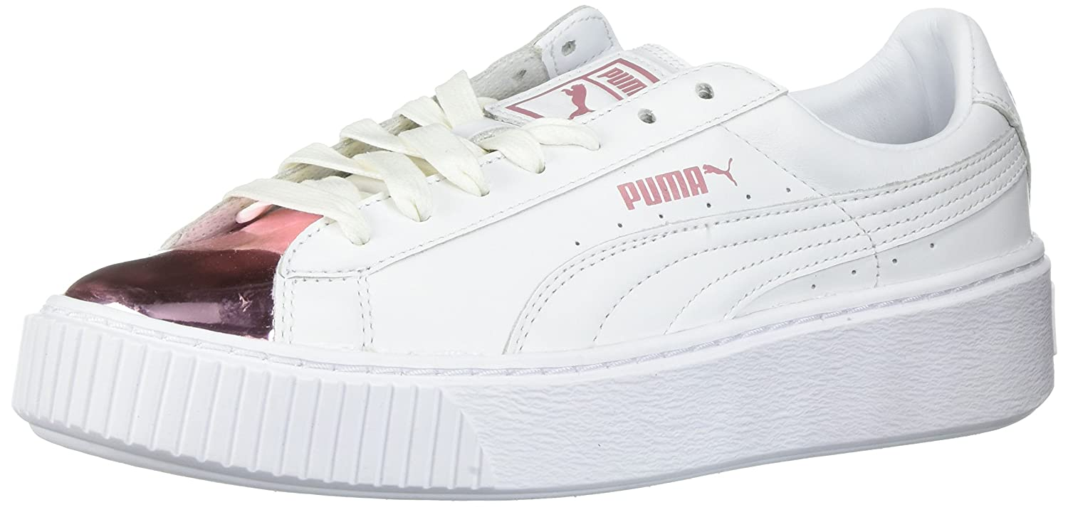 Piattaforma da basket femminile Metallic, Puma White-Lilac Snow, 8.5 M US