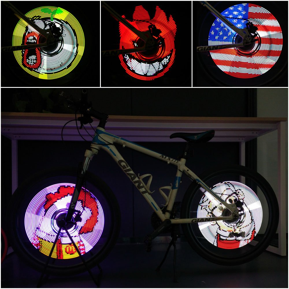 216 Led Programmable Diy Bicycle Wheel Light Bike