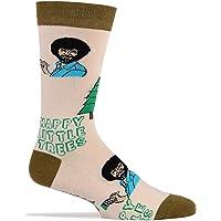 Mens Novelty Funny Crew Socks Happy Little Trees
