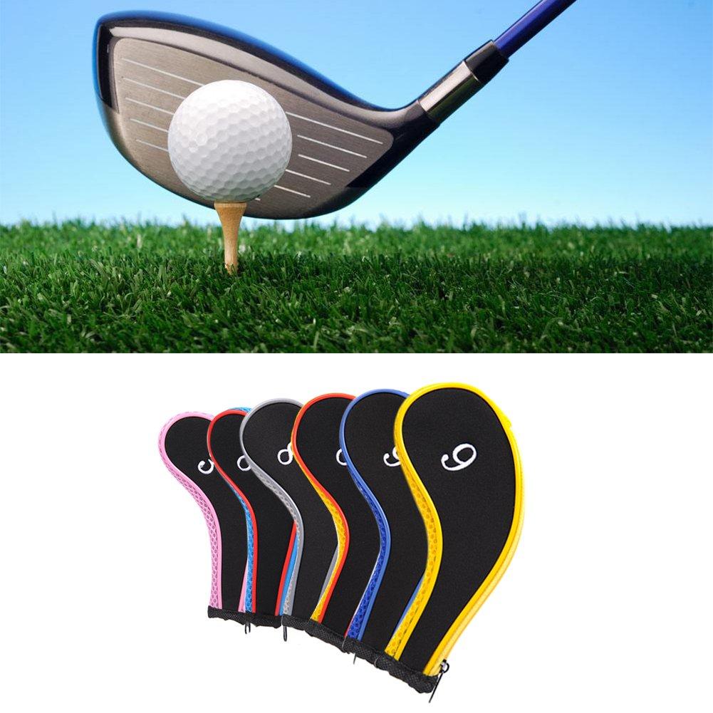 Juego de 10 pcs palo de golf hierro Golf Club funda carcasa ...