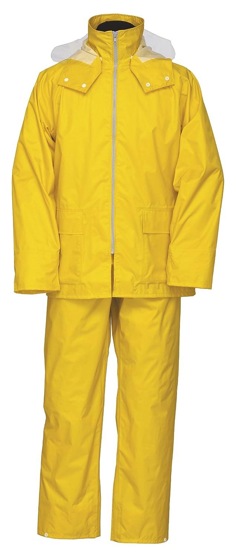 ナダレス スーツ 全6色 全6サイズ レインスーツ ヒマワリ L 防水透湿 3層レイヤー 収納袋付き 9150 [正規代理店品] B018JRDF6G Large|イエロー イエロー Large