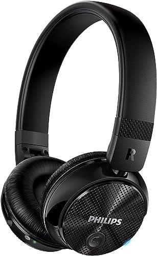 Philips SHB8750NC 27 Wireless Noise Canceling Headphones, Black