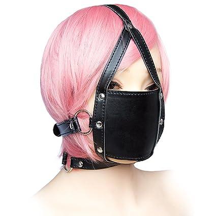 Barra de boca, arnés de cuero, BDSM, excelente para cosplay o ...