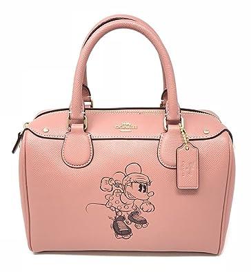49d68c6887f Coach X Disney Minnie Mouse Mini Bennett Bag Leather Black F29356 Vintage  Pink: Handbags: Amazon.com