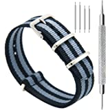 CIVO Watch Bands NATO Premium Ballistic Nylon Watch Strap Stainless Steel Buckle 18mm 20mm 22mm