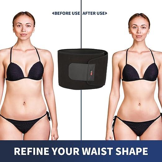 d18e2db6843 Amazon.com : SGODDE Waist Trimmer Belt, Adjustable Tummy Control  Weight-Loss Wrap, Lumbar Back Pain Relief Waist Trainer, Breathable Sweat  Enhancer, ...