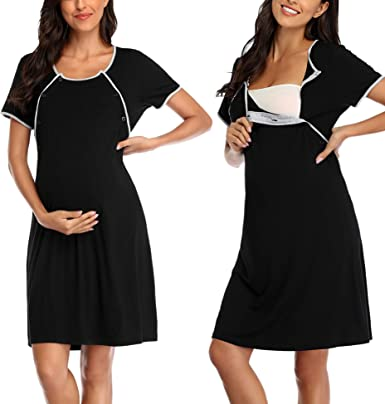 Argconner Women Maternity Nursing Nightgown Delivery Labor Pregnancy Hospital Gown Sleepwear For Breastfeeding At Amazon Women S Clothing Store