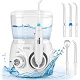 Initio Water Dental Flosser 2 Modes, 10 Adjustable Modes,Oral Irrigator with 600ML Detachable Water Tank, 6 Multifunctional J