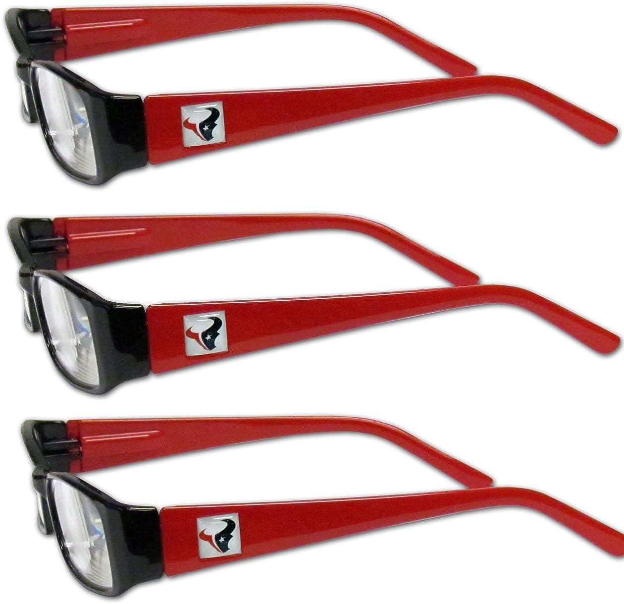 Siskiyou NCAA Fan Shop Sports Reading Glasses 3 Pack