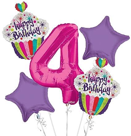 Amazon Happy Birthday Balloon Bouquet 4th 5 Pcs