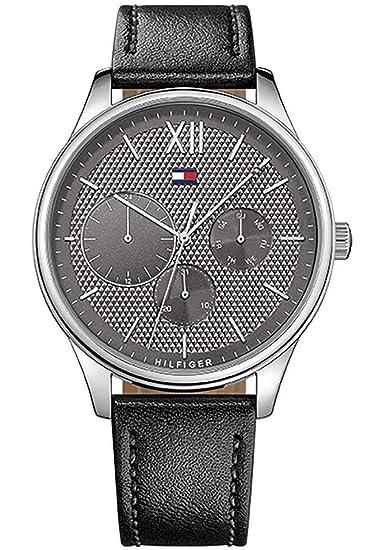 Tommy Hilfiger Reloj Multiesfera para Hombre de Cuarzo con Correa en Cuero 1791417: Amazon.es: Relojes