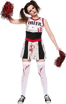 amscan- Miss Cheerleader Costume-Size 12-14-1 Pc Disfraz de zombie ...