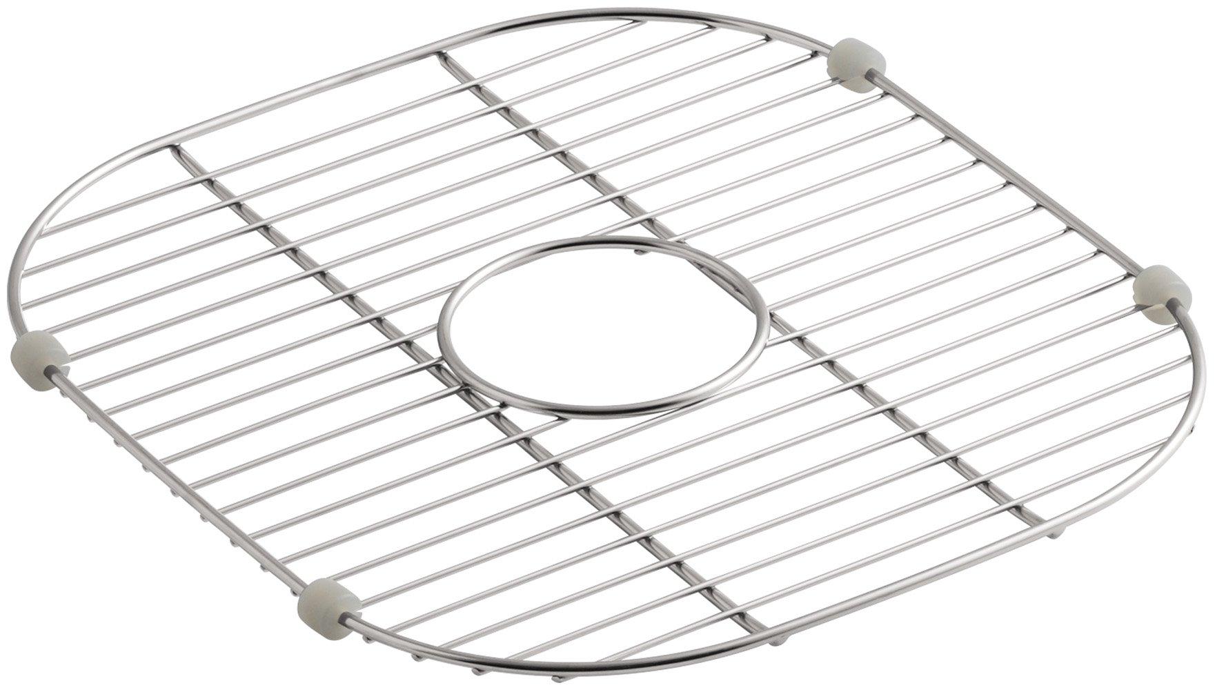 KOHLER 6390-ST Sink Rack, 13-1/2-Inch X 14-7/8-Inch for K-3356 Undertone and K-3356-Hcf Undertone Preserve Sinks, Stainless Steel