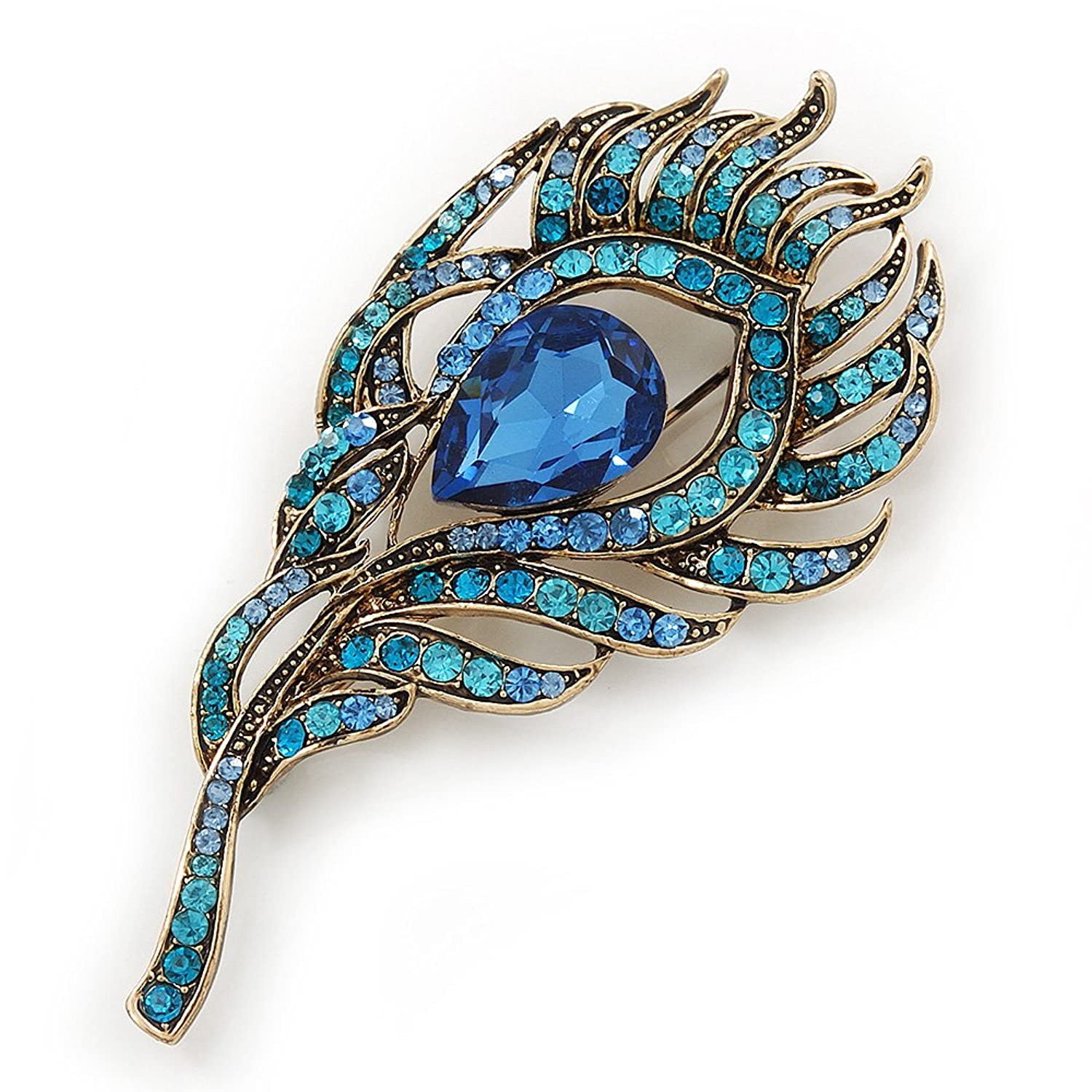 vintage peacock style plaza pin and amazon brooches com jewelry color brooch pins fashion crystals jewellery multi dp