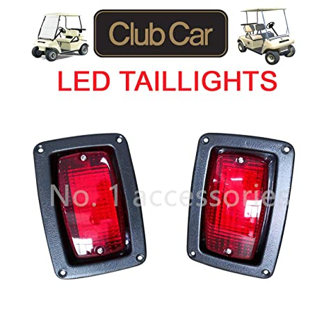 no 1 accessories club car 1982 newer ds golf cart led tail light kit, (2) led 3 wire taillights,1017035 48 volt club car headlight wiring diagram club car precedent wiring diagram