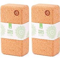 Yogablok van kurk, 70 mm, 100% natuurkurk, universeel yogablok, ideaal voor professionals en beginners…