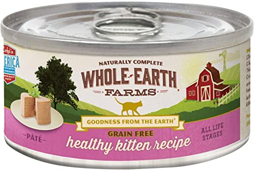 Merrick Whole Earth Farms Grain Free Wet Cat Food – Real Healthy Kitten – 2.75 Oz – 24 Pk