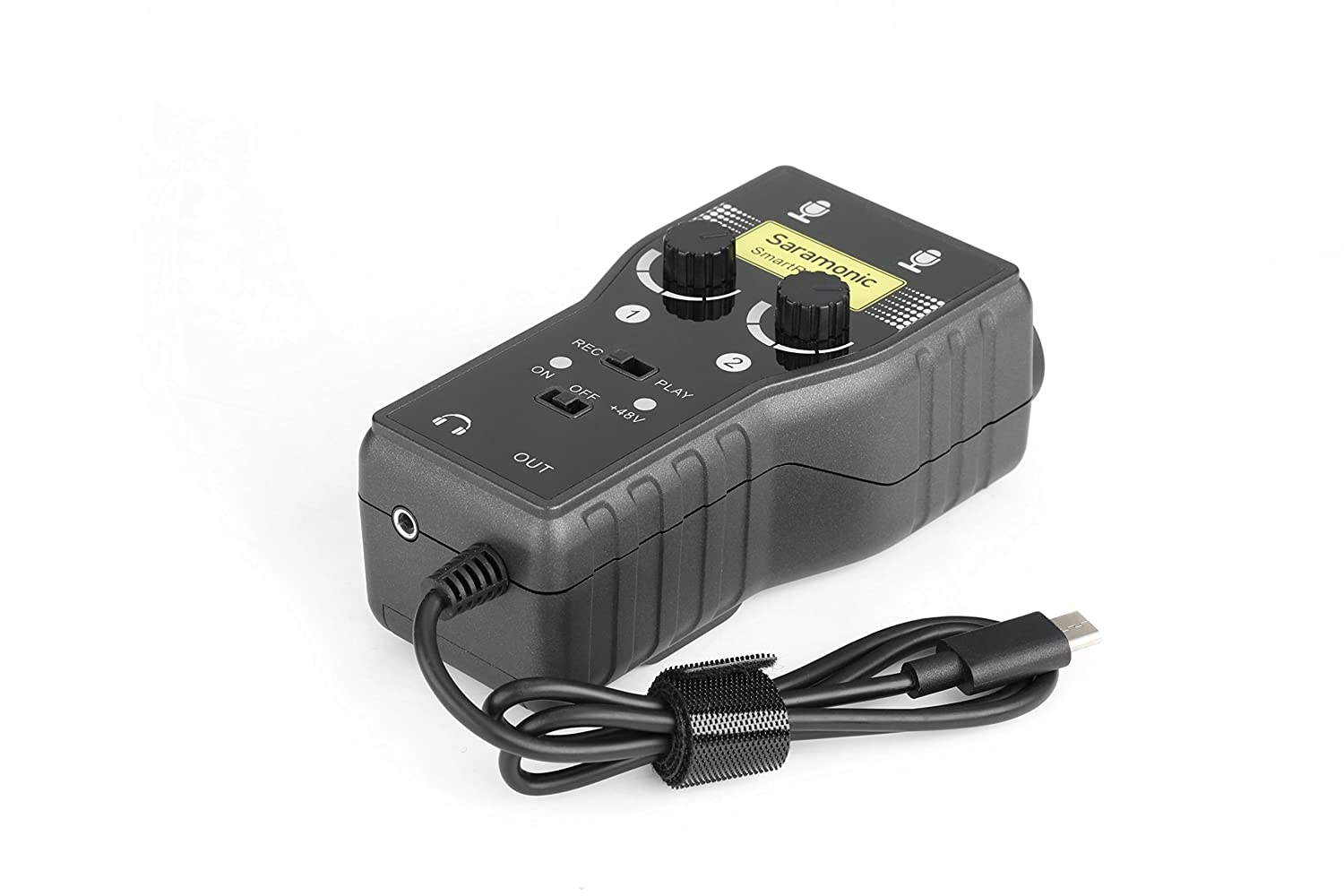 Saramonic Smartrig 2 Channel Xlr 35mm Microphone Audio Mixer With Cable Wiring Phantom Power Preamp