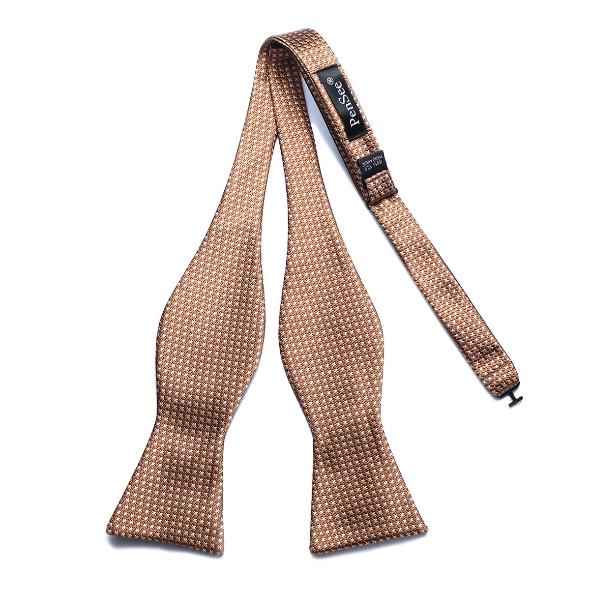 PenSee Mens Exquisite Woven Silk Self Bowtie Plaid Checker Bow Ties-Various Colors PSK07-016