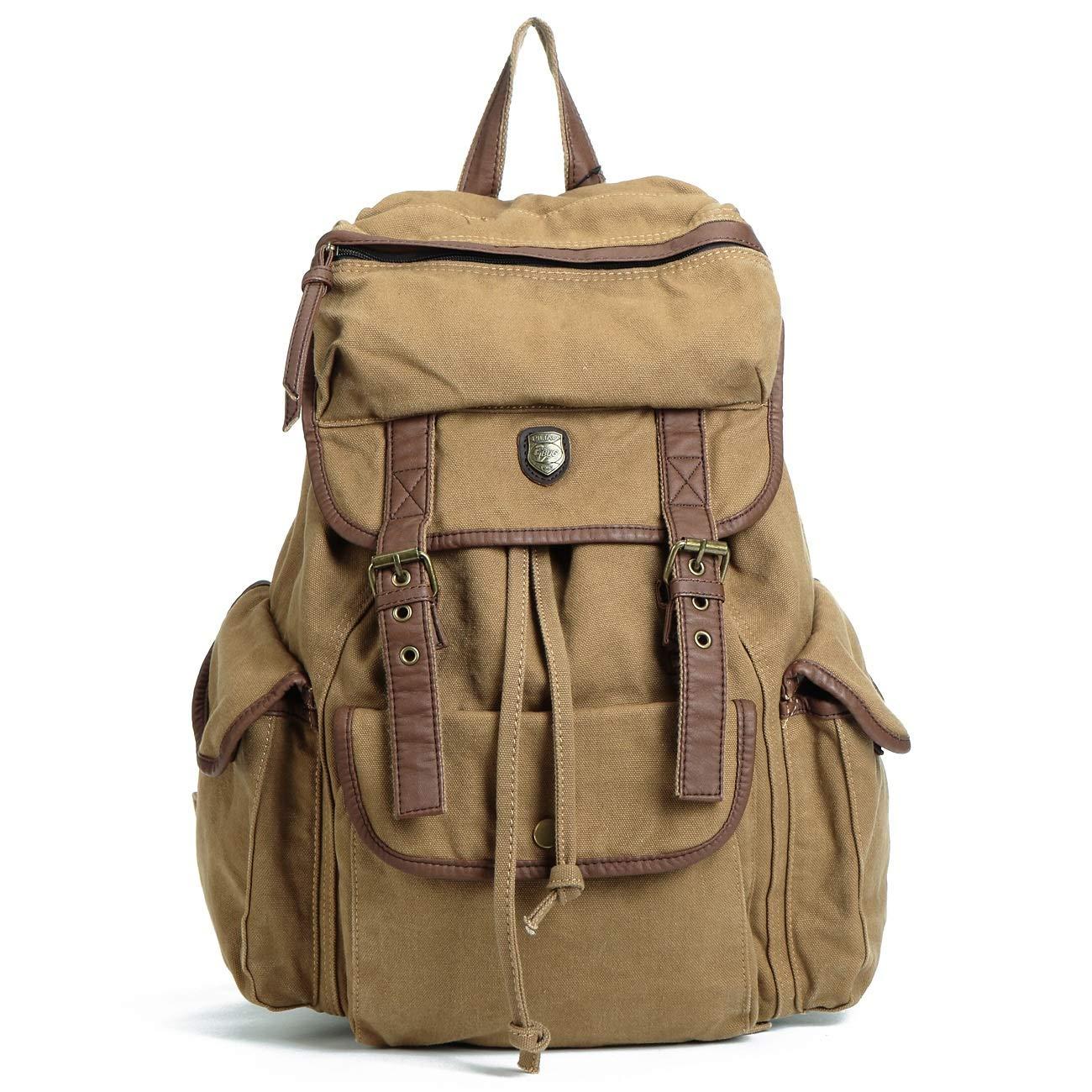 HE-bag Frauen-Segeltuch-Rucksack-Kursteilnehmer-Tasche im Freien großer Raum-Spielraum-Rucksack-Unisex beiläufiger Daypack (Farbe   2)