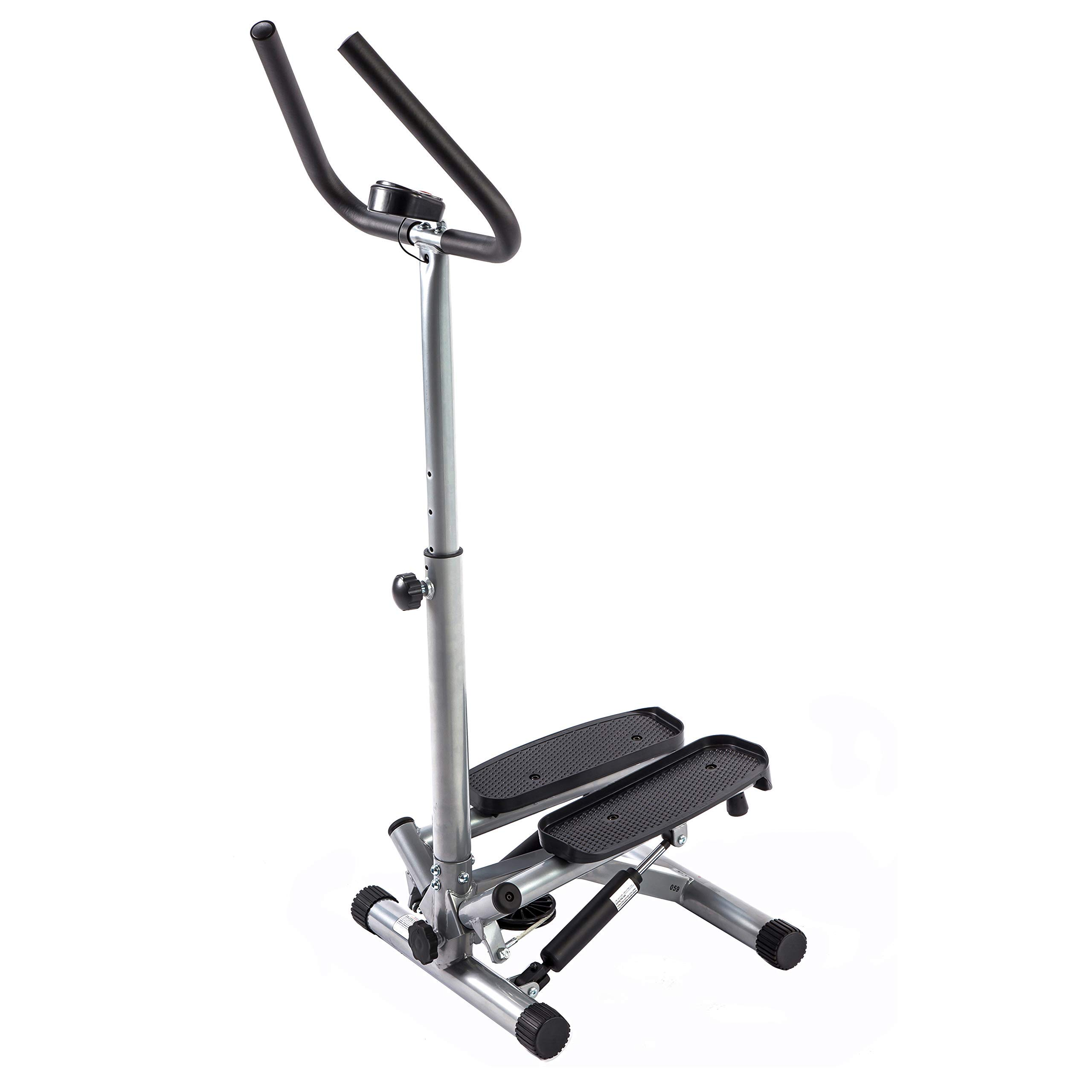 Sunny Health & Fitness NO. 059 Twist Stepper Step Machine w/Handle Bar and LCD Monitor (Renewed) by Sunny Health & Fitness (Image #2)