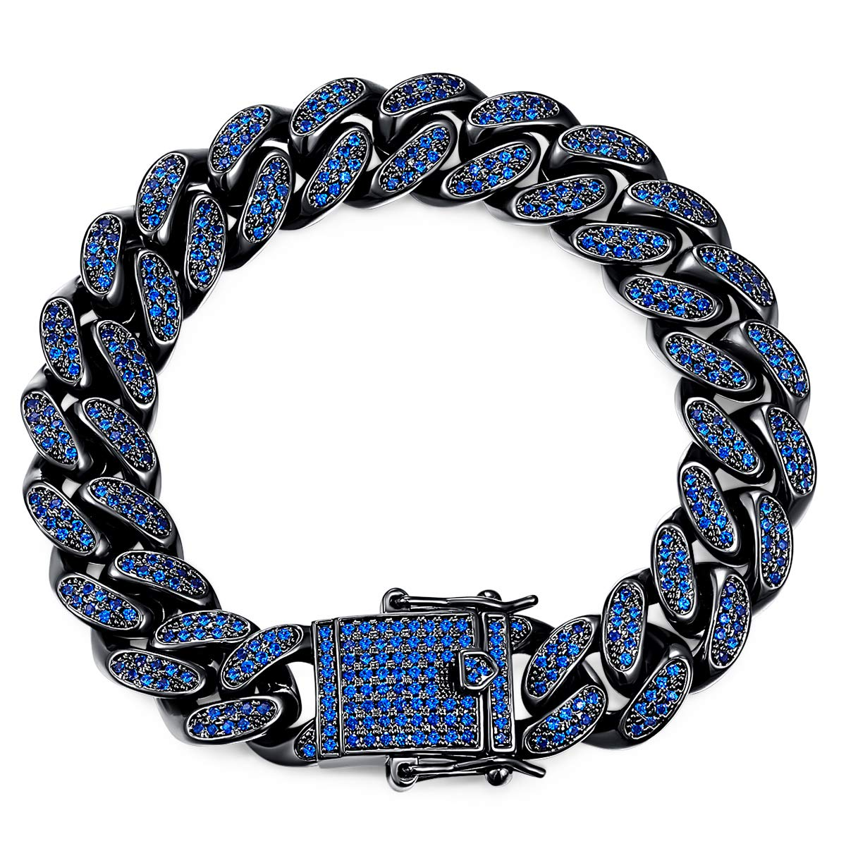 Cde Men Bracelet Cuban Hip Hop Iced Out Style Bracelet Embellished With Crystals From Swarovski Jewelry For Valentine S Day Gift Buy Online In Bahamas At Desertcart Productid 113522120