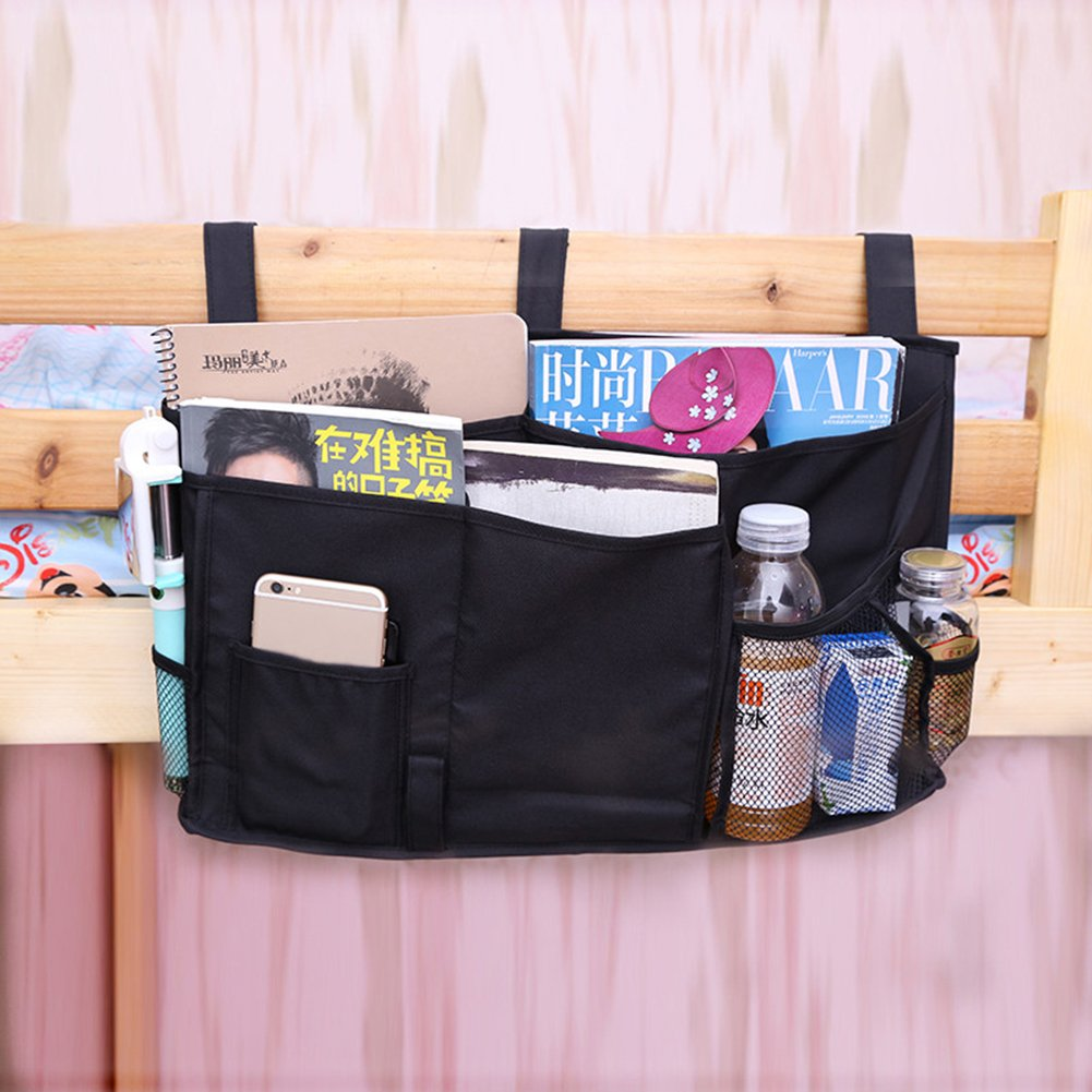 Aszune Oxford Fabric Bedside Storage Caddy Hanging Organizer for Bunk Beds, Hospital Beds, Bed Rails, Dorm Rooms