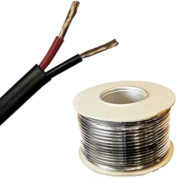 50m Roll 1mm/² BMF DIRECT Automotive 12V 24V 2 Core TWIN Flat Thinwall RED//BLACK Stranded Auto Cable Wire Wiring Loom 16.5 Amp