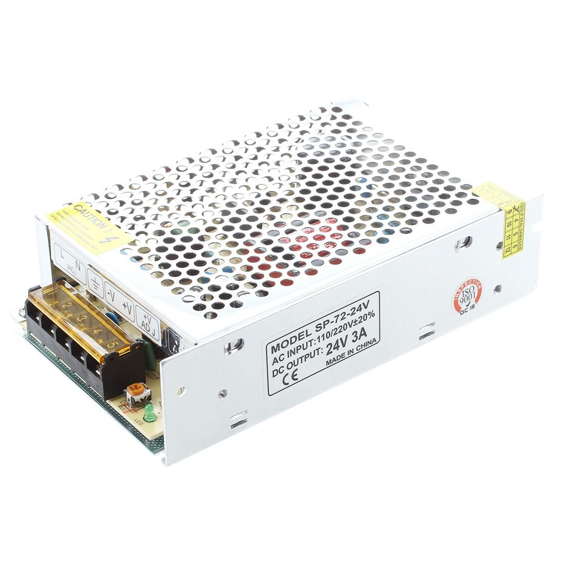 TOOGOO(R)AC 110/220V 24VDC 3A 72W Potencia Alimentacion Transformador por LED Flexible Tira Lampara