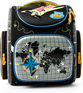 Delune Cartable Garçon Primaire Sac à Dos Enfant Backpack Sac d'école pour Les Garçons Cadeau de Rentrée Scolaire