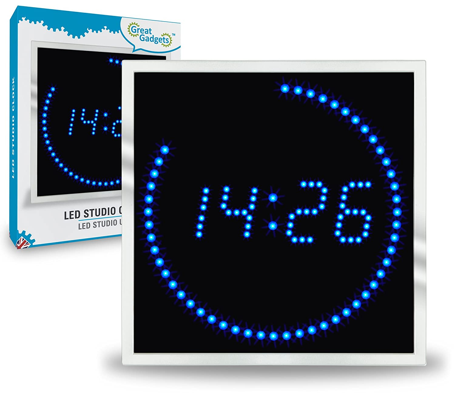 Exceptional Led Uhr Schlafzimmer #11: Amazon.de: GreatGadgets 1886 LED Studio Uhr
