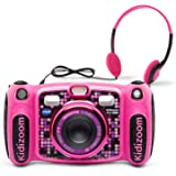 VTech 80-507150 Kidizoom Duo 5.0 Deluxe Digital Selfie Camera with MP3 Player & Headphones, pink